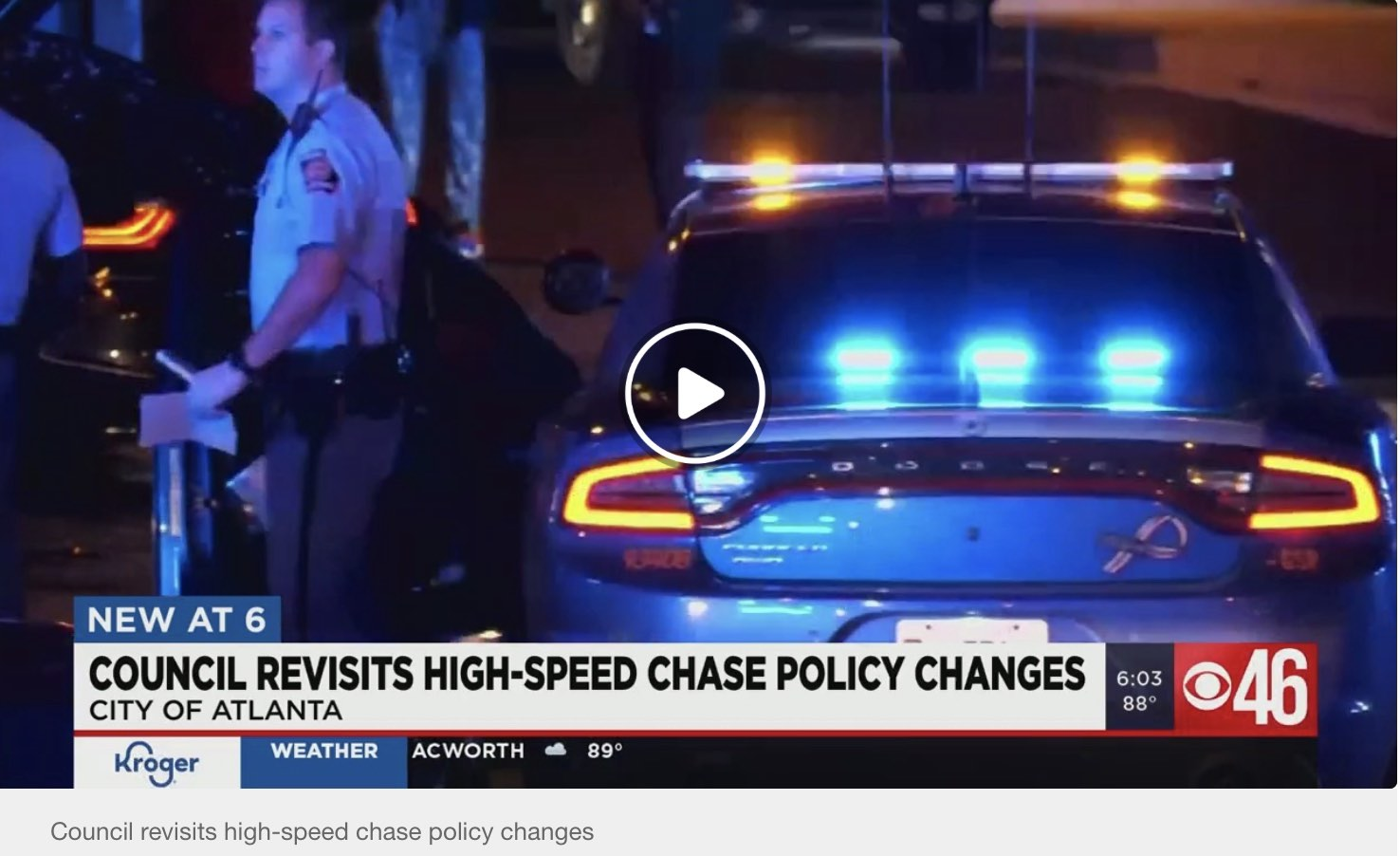 Atlanta City Council To Consider Pursuit Policy Changes